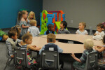Kids building Sunday school 5