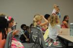 Kids building Sunday school 3