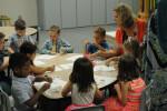 Kids building Sunday school 2